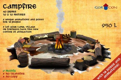 Campfire - Medieval - rustic - Torvaldsland - Nomads - Panther