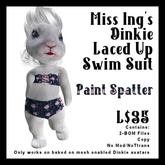 Miss Ing's Dinkie Laced Up Swim Suit Paint Splatter BOM