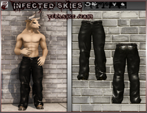 *IS* Terrance Jeans Furry 2 Leather