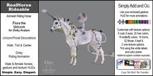 *E* RealHorse Rideable - Flora Unicorn Dinky  [Add & Click]