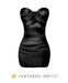 FASHION - Satin Mini Dress - Black
