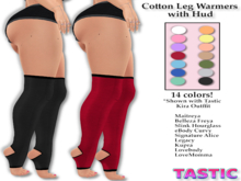 Tastic-Cotton Leg Warmers with Hud