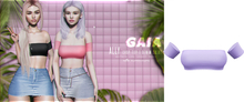 Gaia - Ally Crop Top LILAC
