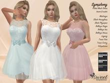 PROMO - ST :: Symphony Dress for Maitreya, Slink, Belleza, Tonic, Voluptuous, and Legacy. 10 Tex HUD. Mix & Match