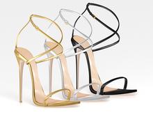 Salvadori - Metallic 'Ava' Strappy Sandals