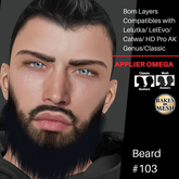 #TS# Beard #103 Prim- BOM - Lel Evo/Catwa HD Pro/AK/ Classic