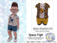 {SMK} Space Adventure Button Up Set | Space Flight