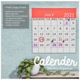 ::Beetletech:: Basic Calendar & Monthly Organizer