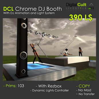 *** DCL Chrome Dj Booth - with dance platforms