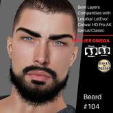 #TS# Beard #104 Prim- BOM - Lel Evo/Catwa HD Pro/AK/ Classic