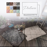 Picture - Plain and Damask Pattern Rug