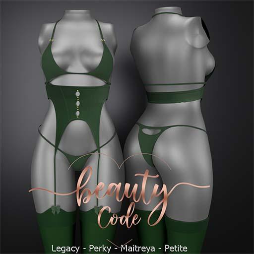 *Beauty Code* - Lingerie Clary - Green
