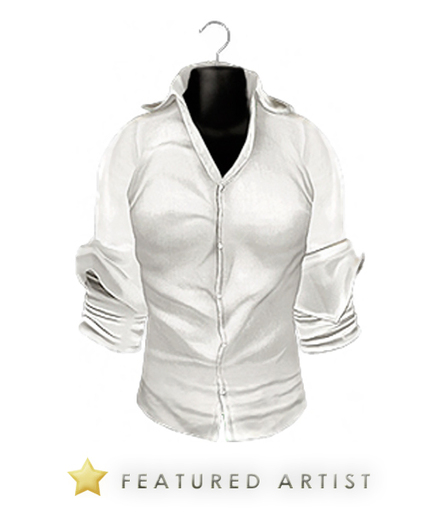 FASHION - Cambridge Cuffed Shirt - White