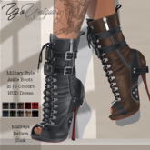 YoUnique Couture Mya Military Ankle Boots 10 Colourchange HUD