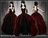 [Wishbox] Alisandra (Bloody Valentine Red) - Gothic Formal Dress or Wedding Gown - Goth Vampire Bridal
