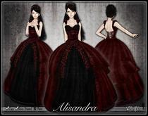 [Wishbox] Alisandra (Bloody Valentine Red) - Gothic Formal Dress or Wedding Gown - Goth Vampire Bridal