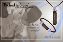 """Ms.O.Lei-ny™ """"Etched in Stone"""" (Greek """"s'agapo"""" in Greek characters) male set"""