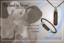"Ms.O.Lei-ny™ ""Etched in Stone"" (Hawaiian ""aloha au ia 'oe"") male set"