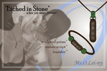 """Ms.O.Lei-ny™ """"Etched in Stone"""" (Chinese """"wo ai ni"""" in Chinese characters) male set"""