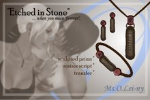 """Ms.O.Lei-ny™ """"Etched in Stone"""" (Catalan """"t'estimo"""") female set"""
