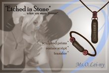 """Ms.O.Lei-ny™ """"Etched in Stone"""" (Catalan """"t'estimo"""") male set"""