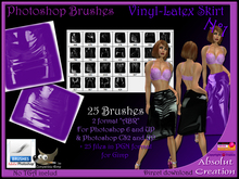 Photoshop Brushes latex -Skirt N° 01