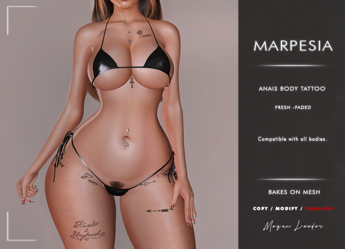 MARPESIA ''Anais'' Body Tattoo - BOM Only