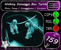 * New Donation Box Walking Turtle* Menu *