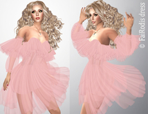 FaiRodis Sabrina mesh Slink Hourglass dress pink DEMO pack