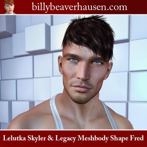 Lelutka Skyler & Legacy Meshbody Shape Fred
