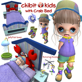 [ CHIBIT ] - Kids & Crab Bed with AO - FATPACK