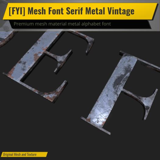 [FYI] Mesh Font Serif Premium Metal Vintage