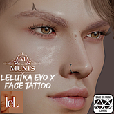 [Muni's] Horns Brow Tattoo (Lelutka EvoX BOM)