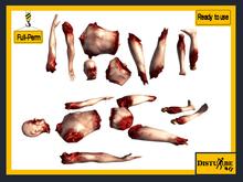 ::DisturbeD:: Horror Props - Severed Body Parts - FULL PERM MESH - Halloween