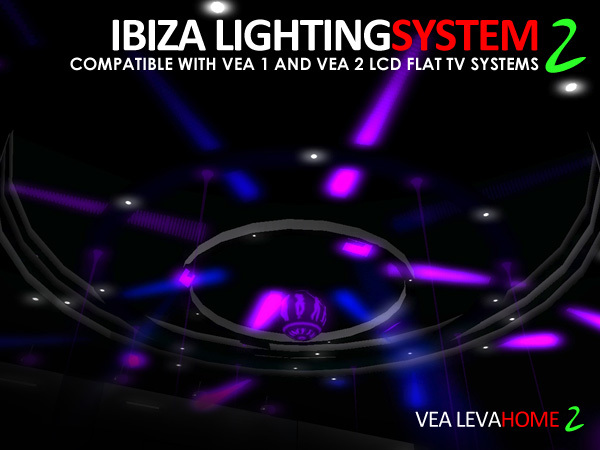 VEA Ibiza Lighting System 2 For VEA 1.xx and VEA 2 LCD Flat TV Systems
