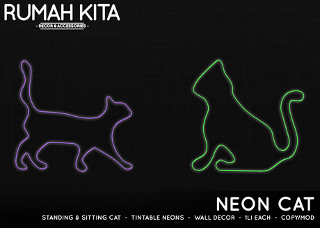 Rumah Kita - Neon Cat
