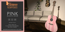 Mariposa Emporium - Pink Acoustic Guitar (DECOR ONLY)