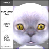 *E* Dinky BOM Eyes Natural Gold  [Add & Click to Open]