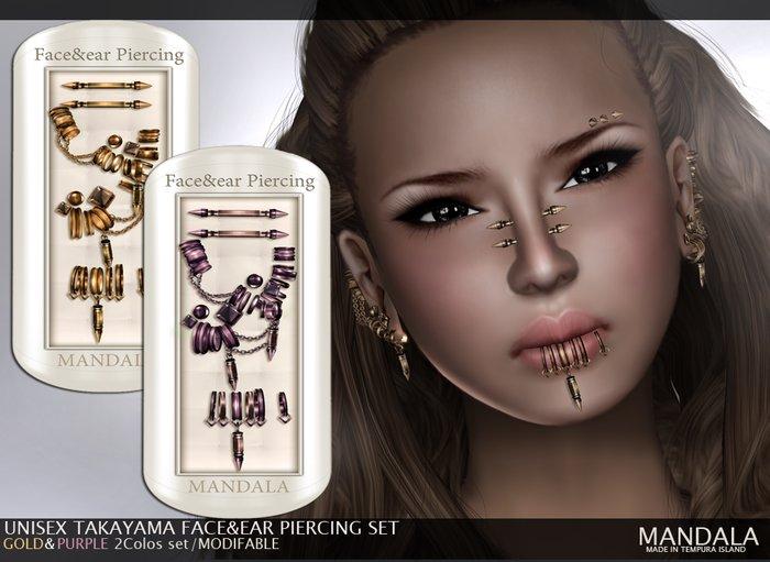 (70%OFF SALE)(UNISEX)TAKAYAMA FACE&EAR PIRCING SET(A)