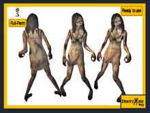 ::DisturbeD:: Ludmila the Zombie Horror Character- FULL PERM MESH - Halloween