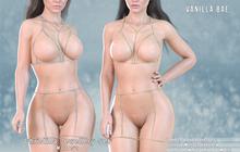 *Vanilla Bae* Christina Body Chain Set Fat Pack ~ Maitreya 2 Piece Lingerie Style chains