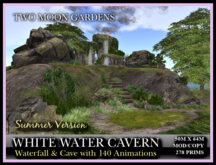 TMG - WHITE WATER CAVERN* Large waterfalls and Cave Landscape