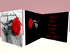 Valentine Card (Red Rose) - Customizable Valentine card for Valentine's day