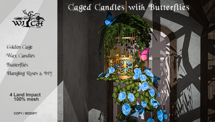 W&Co. Caged Candles (boxed)