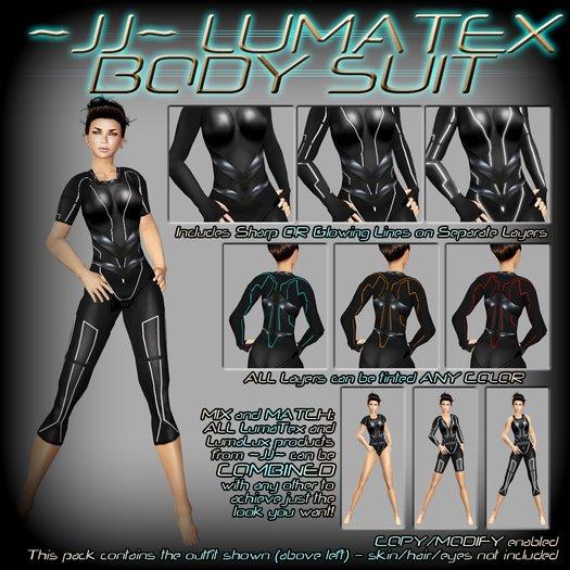 ~JJ~ LumaTex Body Suit (modest / mid-cut)