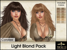Amacci Hair ~ Coralee - Light Blond Pack