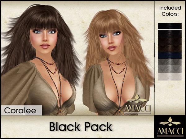 Amacci Hair ~ Coralee - Black Pack