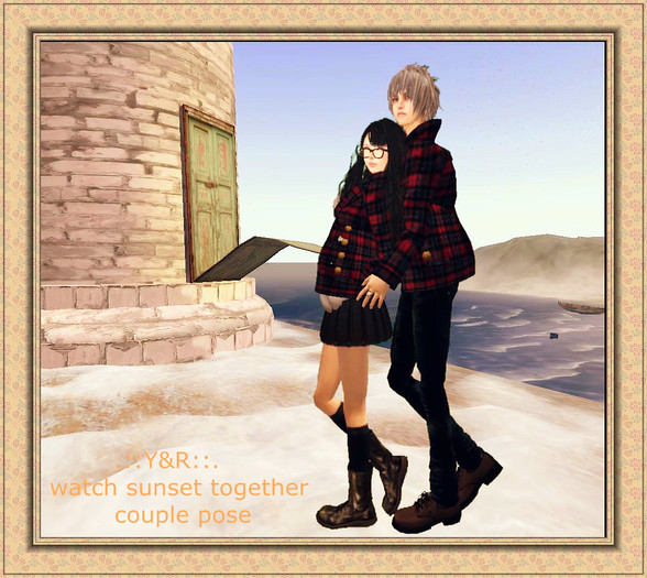 .::Y&R::.  watch sunset together couple pose(boxed)Promo price