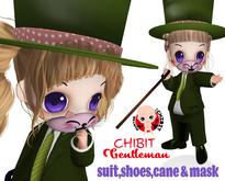 [ CHIBIT ] Gentleman - suit, shoes, hat, cane & mask