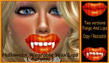 Halloween Wax Lips / Fangs ( Autumn )